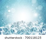 background with lots of cubes... | Shutterstock .eps vector #700118125