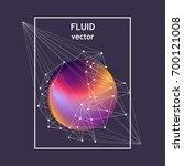 vector fluid ball with white... | Shutterstock .eps vector #700121008