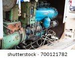 old diesel generator with oil... | Shutterstock . vector #700121782
