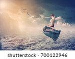manipulation photo of woman... | Shutterstock . vector #700122946