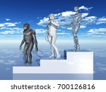 human evolution computer...   Shutterstock . vector #700126816