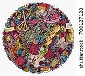 cartoon vector doodles handmade ... | Shutterstock .eps vector #700127128