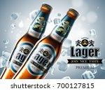 design of advertising beer with ... | Shutterstock .eps vector #700127815