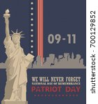patriot day vector poster.... | Shutterstock .eps vector #700129852