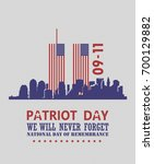 patriot day vector poster.... | Shutterstock .eps vector #700129882
