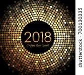 vector   happy new year 2018  ... | Shutterstock .eps vector #700130335
