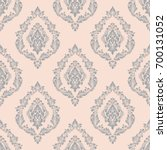 vector damask seamless pattern... | Shutterstock .eps vector #700131052