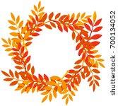 vector wreath. decorative... | Shutterstock .eps vector #700134052