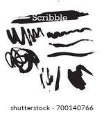 hand drawn scribble symbols... | Shutterstock .eps vector #700140766
