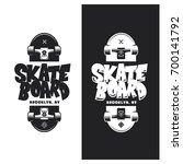 skateboarding t shirt design.... | Shutterstock .eps vector #700141792