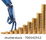 robot fingers walking up on... | Shutterstock . vector #700142512