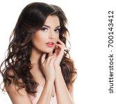 perfect fashion model woman...   Shutterstock . vector #700143412