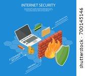 user guard isometric internet...   Shutterstock .eps vector #700145146