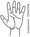 drawing of a hand | Shutterstock .eps vector #700147426