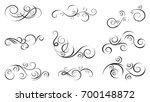 hand drawn swirls and... | Shutterstock .eps vector #700148872
