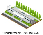 vector isometric infographic... | Shutterstock .eps vector #700151968