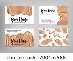 makeup artist business card.... | Shutterstock .eps vector #700155988