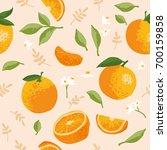 vector summer pattern with... | Shutterstock .eps vector #700159858