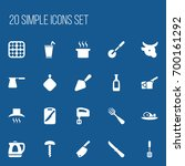 set of 20 editable cooking...
