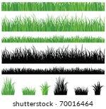 green grass collection | Shutterstock .eps vector #70016464