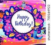 vector beautiful happy birthday ... | Shutterstock .eps vector #700164922