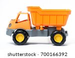 a large plastic toy truck... | Shutterstock . vector #700166392