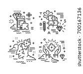 set of vector icons in modern... | Shutterstock .eps vector #700167136
