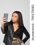 half length shot of young woman ... | Shutterstock . vector #700170082