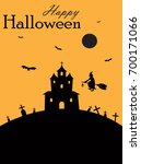 happy halloween  halloween... | Shutterstock .eps vector #700171066