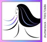 branding for salon  barbershop  ... | Shutterstock .eps vector #700172686