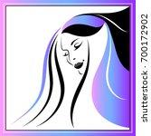 branding for salon  barbershop  ... | Shutterstock .eps vector #700172902