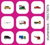 set of 9 editable car flat...