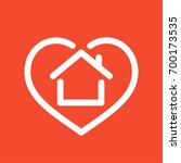heart with house shape within... | Shutterstock .eps vector #700173535