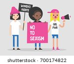 women's right. conceptual... | Shutterstock .eps vector #700174822