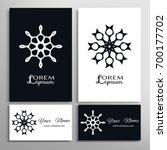 black and white mandala round...   Shutterstock .eps vector #700177702