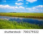 meadow  channel stream  green... | Shutterstock . vector #700179322