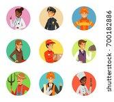 vector avatars set with... | Shutterstock .eps vector #700182886