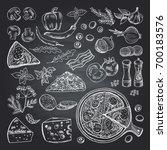illustrations of pizza... | Shutterstock .eps vector #700183576