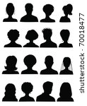 anonymous mugshots | Shutterstock .eps vector #70018477