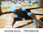 automation concept as an... | Shutterstock . vector #700186246