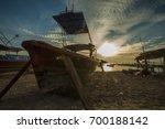scenery of sunrise at koh lipe...   Shutterstock . vector #700188142