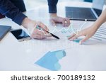 diagrams and graphs on virtual...   Shutterstock . vector #700189132