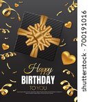 happy birthday vector... | Shutterstock .eps vector #700191016