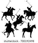 polo horsemen silhouette set  ... | Shutterstock .eps vector #700192498