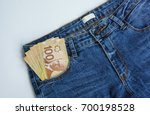canadian banknotes are in a... | Shutterstock . vector #700198528