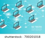 isometric computer wireless... | Shutterstock .eps vector #700201018