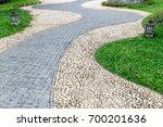 Stone And Brick Walkway...
