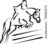 Stock vector equestrian sport 70020373