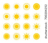 set of vector icons of yellow... | Shutterstock .eps vector #700204252