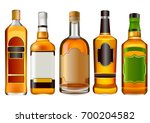 realistic colorful alcohol... | Shutterstock .eps vector #700204582